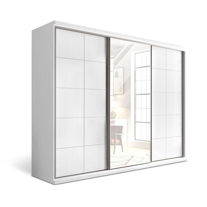 Guarda-roupa-Athenes-3-Portas-Com-Espelho-Branco-Athenas