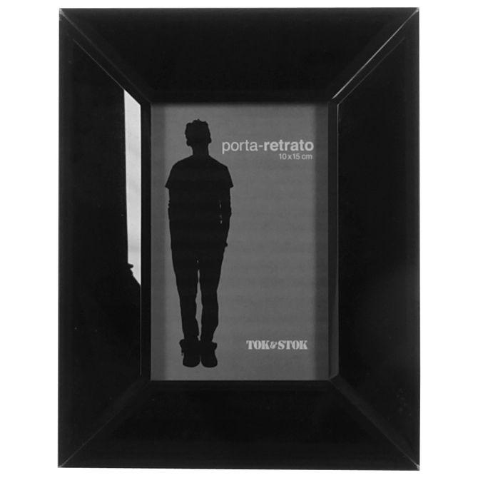 Porta-retrato-10-Cm-X-15-Cm-Preto-Brilhante-Bizzo