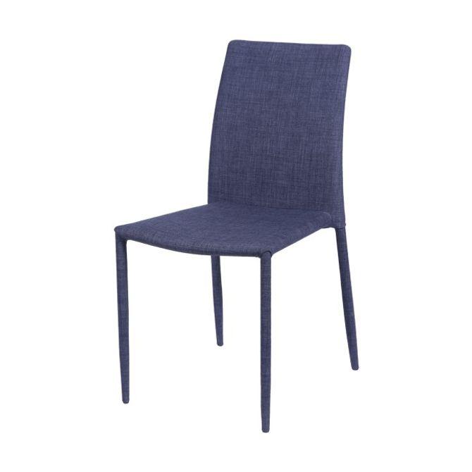 Cadeira-De-Jantar--Tecido-Azul-Jeans-Glam