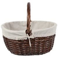 Cesto-Piquenique-47-Cm-X-36-Cm-Castanho-natural-Wicker