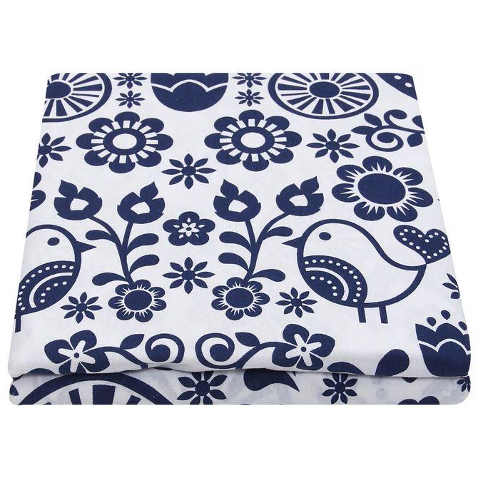 Lencol-Solteiro-160x240-Azul-Escuro-branco-Folksy