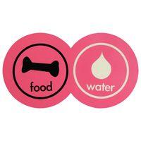 Pet--Tapete-comedouro-Fucsia-Multicor-Food-Water
