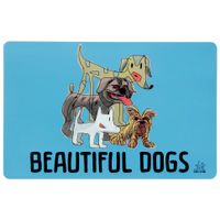 Beautiful dogs tapete/comedouro para pet