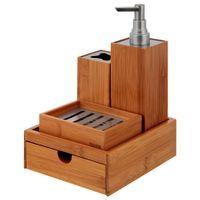 Kit-Para-Bancada-4pcs-Natural-niquel-Bamboo