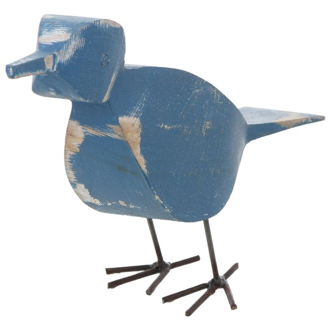 Adorno-Passaro-15-Cm-Azul-castanho-Pia