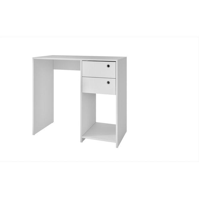 Escrivaninha-Office-2-Gavetas-90-Cm-Branco-Escritorio