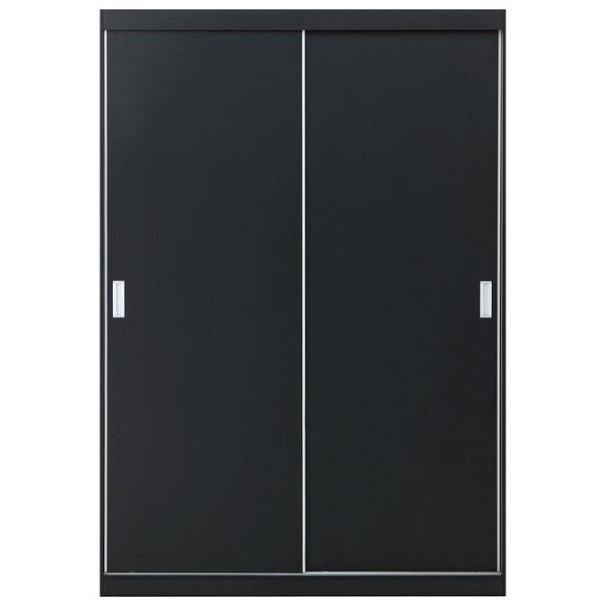 Guarda-roupa-2-Portas-De-Correr-Preto-branco-Novile