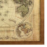 Mapa-mundi-Eastern-Hemisph-Quadro-33x33-Garapa-bege-Mapa-Mundi