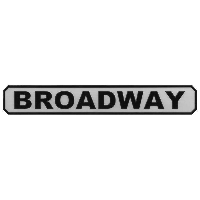 Placa-Decor-63-Cm-X-9-Cm-Branco-preto-Broadway