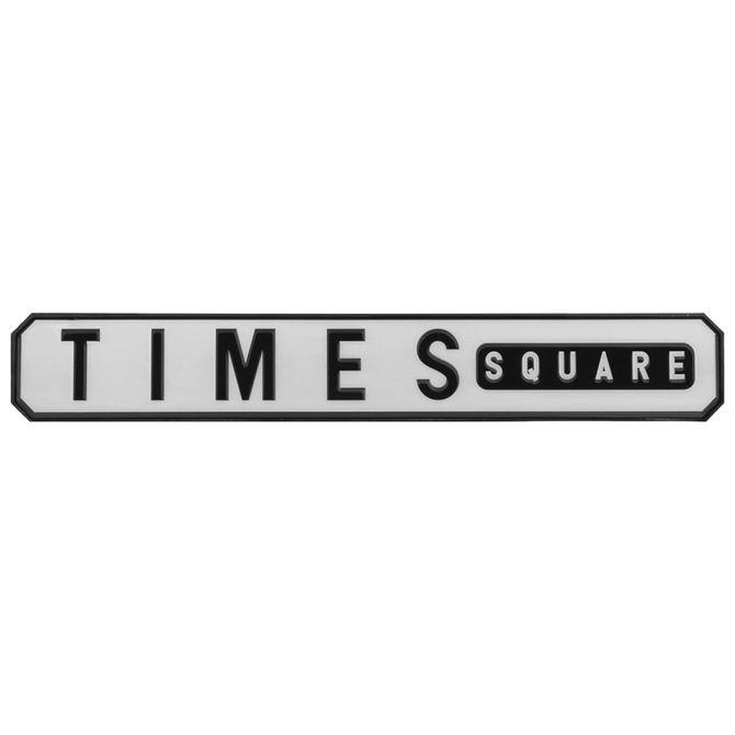 Placa-Decor-63-Cm-X-9-Cm-Branco-preto-Times-Square