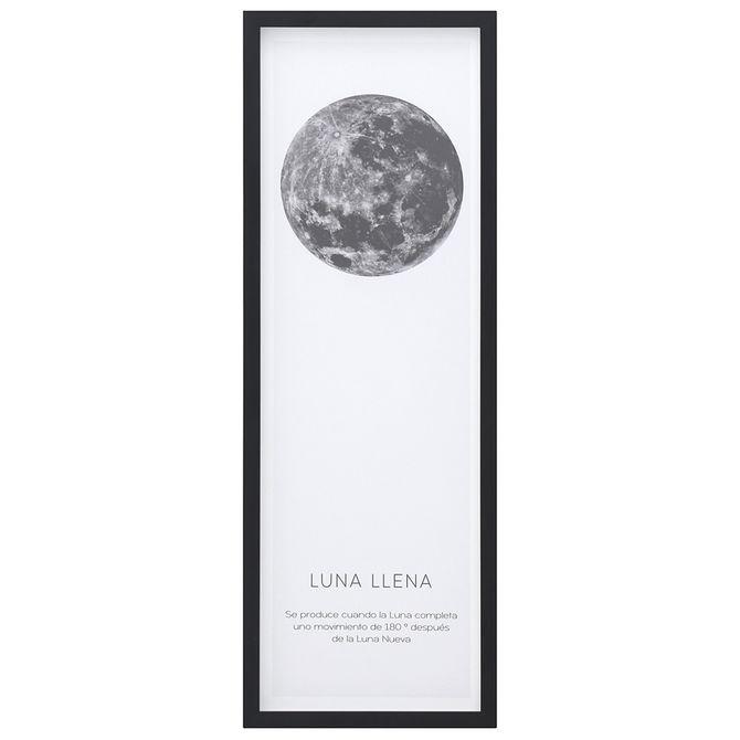 Llena-Quadro-33-Cm-X-93-Cm-Preto-branco-Luna