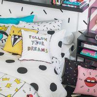 Follow-Lencol-Elast-Casal-138x188x30-Branco-preto-Follow-Your-Dreams