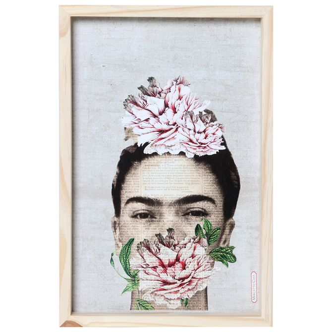 Frida-Florescer-Quadro-30-Cm-X-45-Cm-Natural-multicor-Mercatto