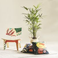 Almofada-45-Cm-Multicor-Flor-Amarela