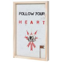 Follow-Your-Heart-Quadro-30-Cm-X-45-Cm-Natural-multicor-Mercatto