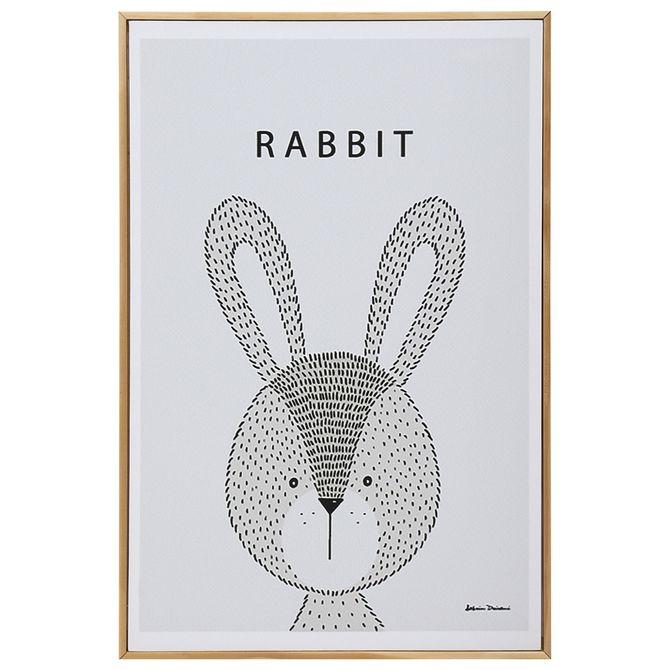 Rabbit-Quadro-20-Cm-X-30-Cm-Natural-multicor-Little-Ones