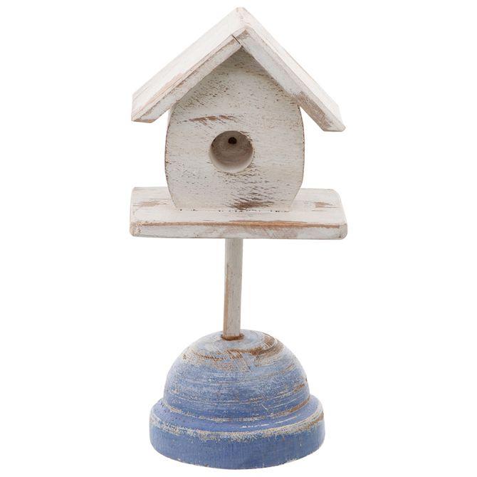 Casa-Adorno-20-Cm-Branco-azul-Campestre