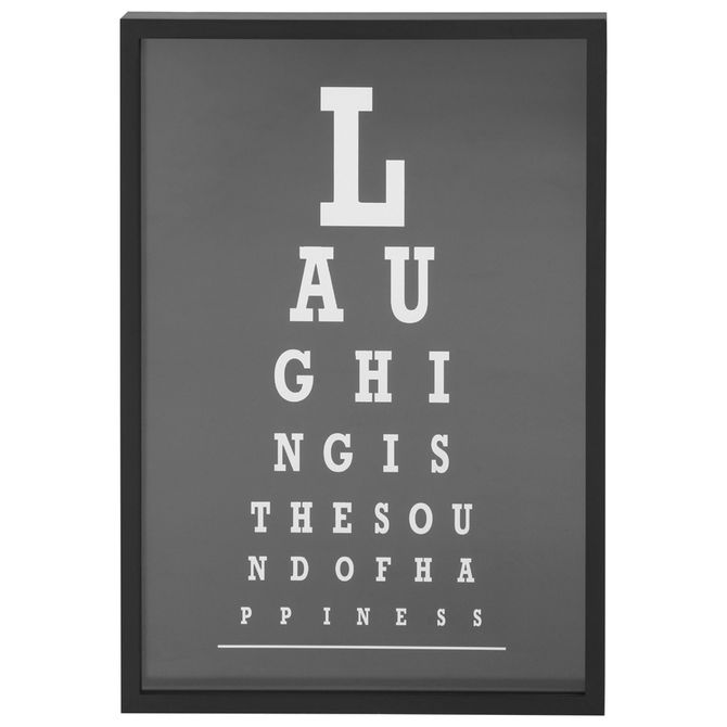 LOOK CLOSER LAUGHING QUADRO 45 CMX 65 CM