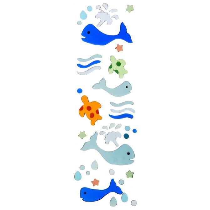 Decorador-Espelho-Azul-multicor-Whales
