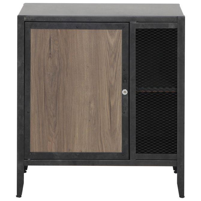 Armario-Baixo-1-Porta-Grafite-carvalho-Smoked-Oficina