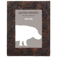 Porta-retrato-13-Cm-X-18-Cm-Marrom-Monstera