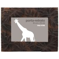 Porta-retrato-10-Cm-X-15-Cm-Marrom-Monstera