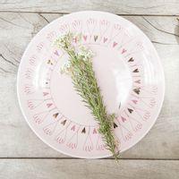 Prato-Sobremesa-Rosa-Claro-ouro-Broto-De-Amor