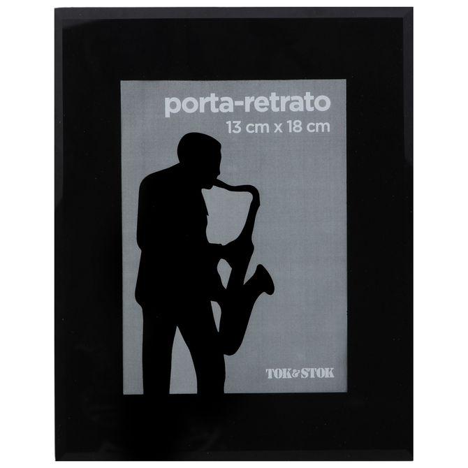 Porta-retrato-13-Cm-X-18-Cm-Preto-Verre