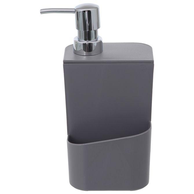 Porta-detergente-Cinza-cromado-Trium