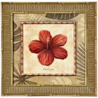 I-Quadro-38-Cm-X-38-Cm-Natural-multicor-Tropical-Flores