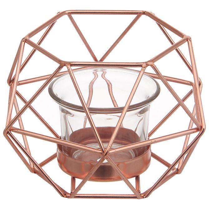 Suporte-Vela-13-Cm-Cobre-Copper-Line