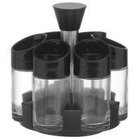 Porta-temperos-7pcs-Preto-inox-Essentials