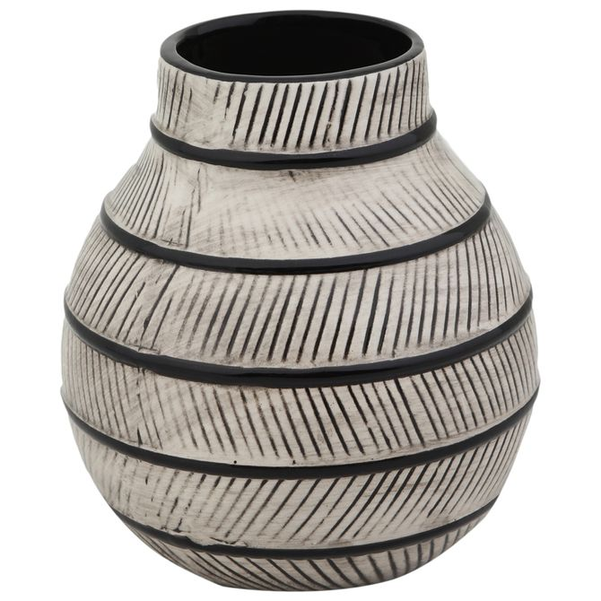 Vaso-Decorativo-15-Cm-Preto-branco-Nadhari