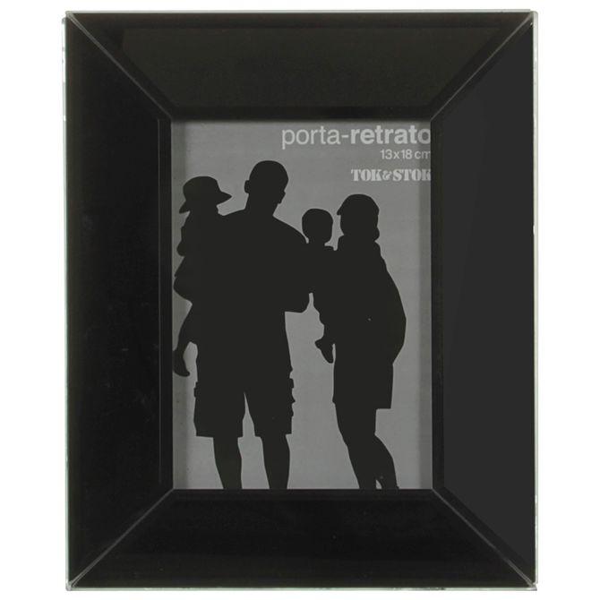 Porta-retrato-13-Cm-X-18-Cm-Preto-Brilhante-Bizzo