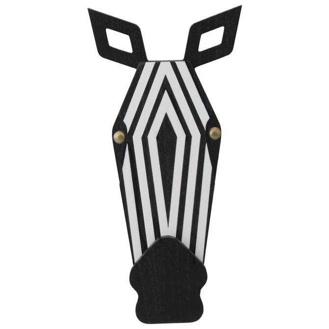 Zebra-Adorno-Parede-Preto-branco-Safari