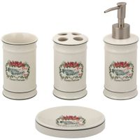 Kit-Para-Bancada-4pcs-Cream-multicor-Savon