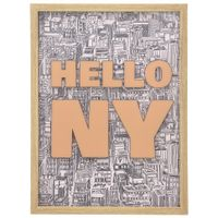 Quadro-45-Cm-X-60-Cm-Natural-multicor-Hello-Ny