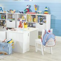 Escrivaninha-Infantil-82x52-Branco-Magie