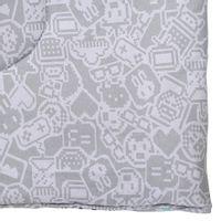 Edredom-Solteiro-160x240-Cinza-Claro-Monica-Toy-Geek