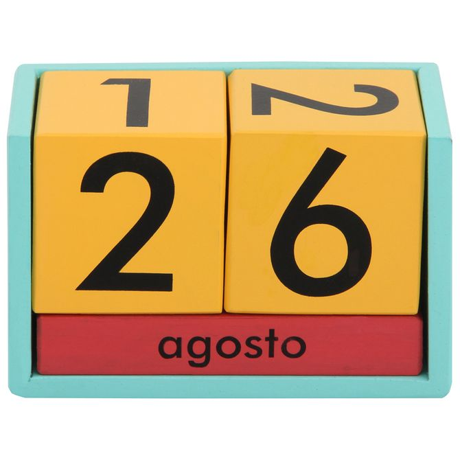 Calendario M.Fluke Calendario Mesa Multicor Menta
