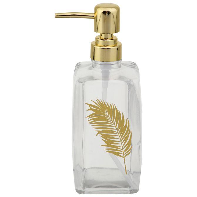 Palm-Porta-sabonete-Liquido-Incolor-dourado-Golden-Leaf