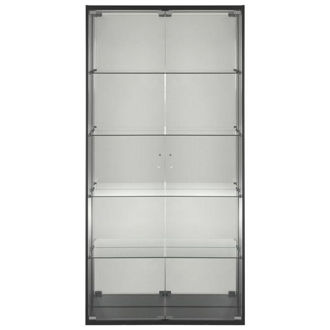 Cristaleira-2-Portas-92x38-Preto-incolor-Showglass