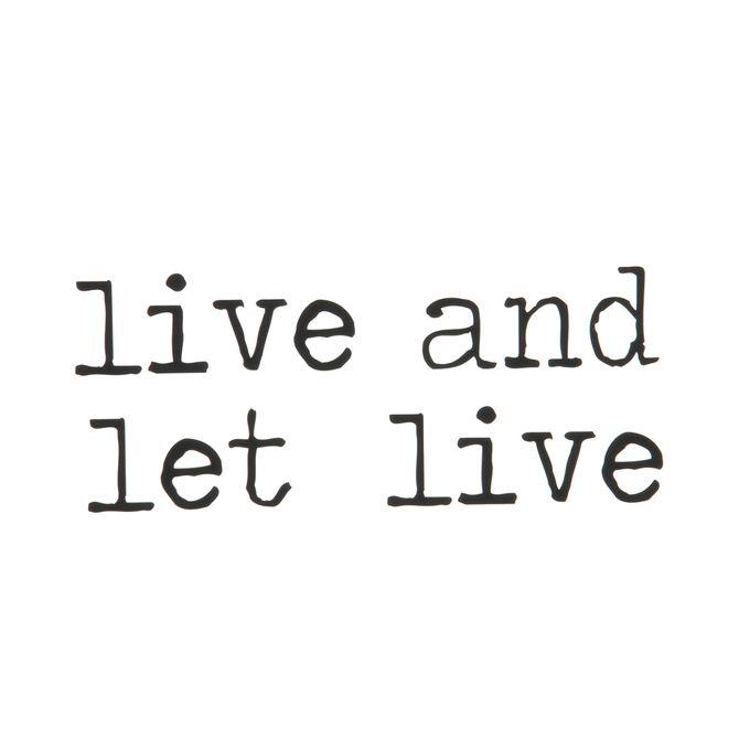 Live-And-Let-Live-Adesivo-38-Cm-X-20-Cm-Preto-Live-And-Celebrate