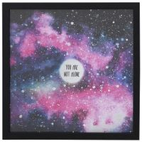 You-re-Not-Alone-Quadro-30x30-Preto-multicor-Youniverse