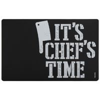 It's chef's time lugar aericano. 44 cm x 29 cm