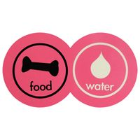 Pet--Tapete-comedouro-Fucsia-Multicor-Food-Water