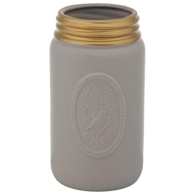 Vaso-21-Cm-Cinza-ouro-Triolet
