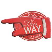 Placa-Decorativa-52x32-Vermelho-branco-This-Way