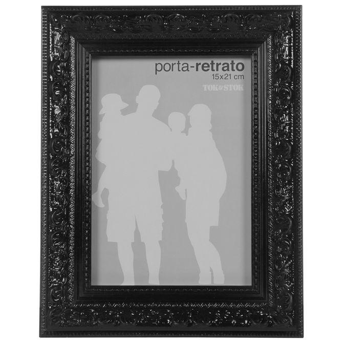 Porta-retrato-15-Cm-X-21-Cm-Preto-Brilhante-Gothic