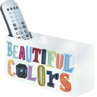 Porta-controle-Remoto-Branco-multicor-Beautiful-Colors
